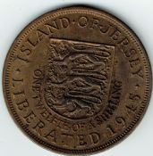 Jersey, George VI, 1/12th Shilling 1945, EF, WB6944